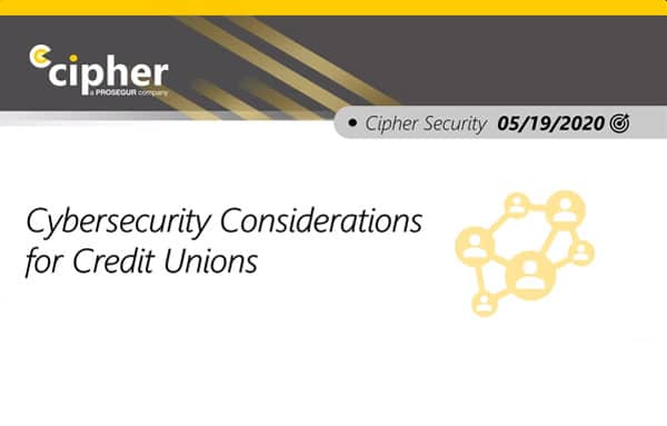 Cybersecurity for Credit Unions